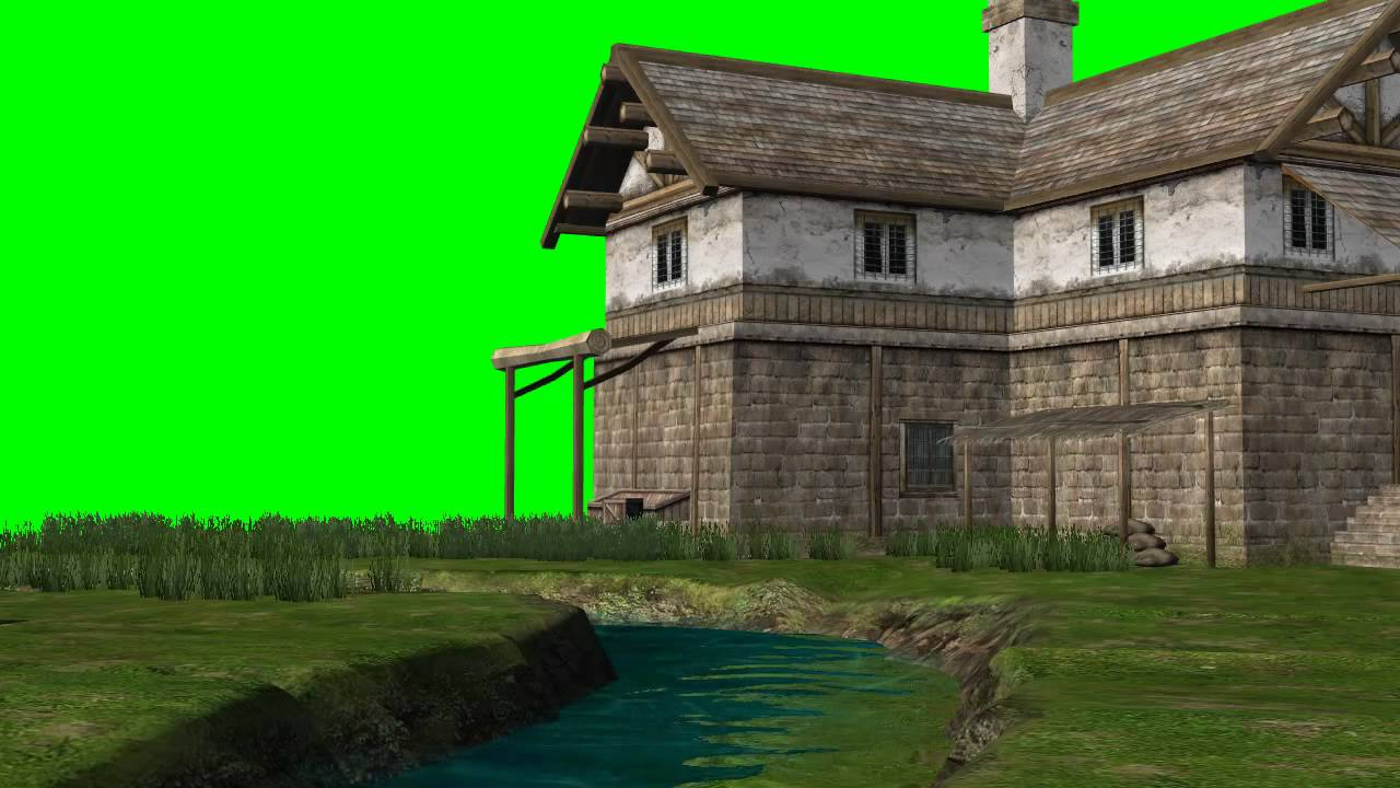 Animation Wallpaper Hd Free Download River With Old House Green Screen Effects Youtube