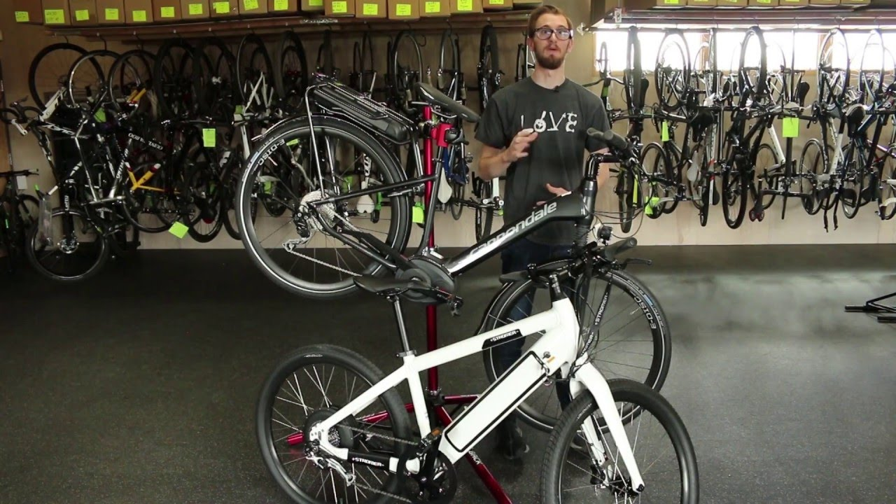 a22ed035713 Comparing the Stromer ST1 & the Cannondale Mavaro Electric Bicycles -  YouTube