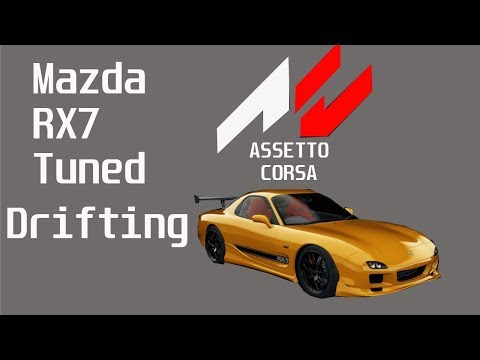 Assetto Corsa-Drifting Tuned Mazda rx7 by DIY Homemade Wooden Steering Wheel