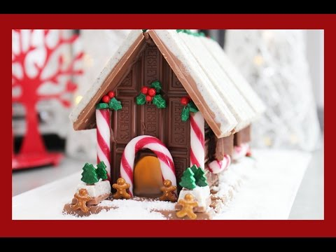 Candy Christmas House! A non-Gingerbread, No Bake Light Up Chocolate Xmas Alternative