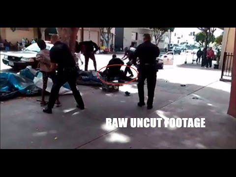 LAPD Aggressively Attacks, Shoots Homeless Man (Graphic video)