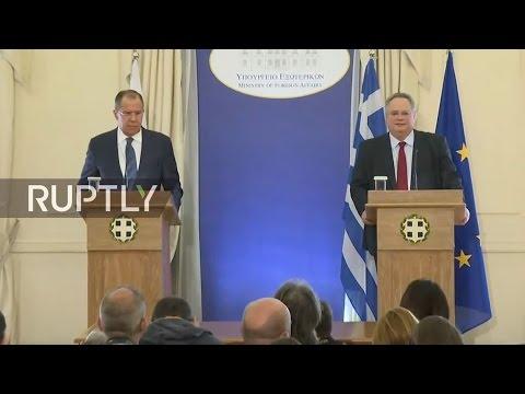 LIVE: Lavrov and Kotzias speak with press after talks with Greek FM