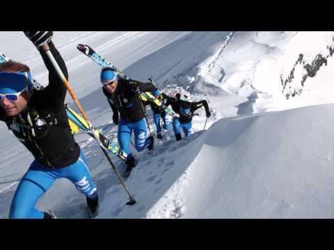 Italian Ski Mountaineering Team training for the Olympics