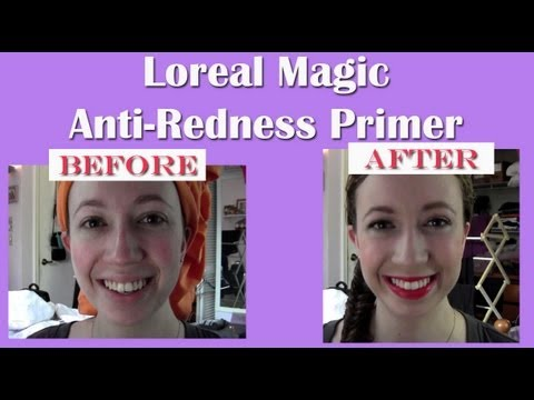 Loreal Anti-Redness Magic Green Primer Review & Demo! - YouTube