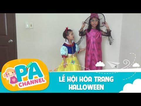 Lễ hội hóa trang halloween | PA channel hóa trang thành nàng bạch tuyết và mụ phù thủy