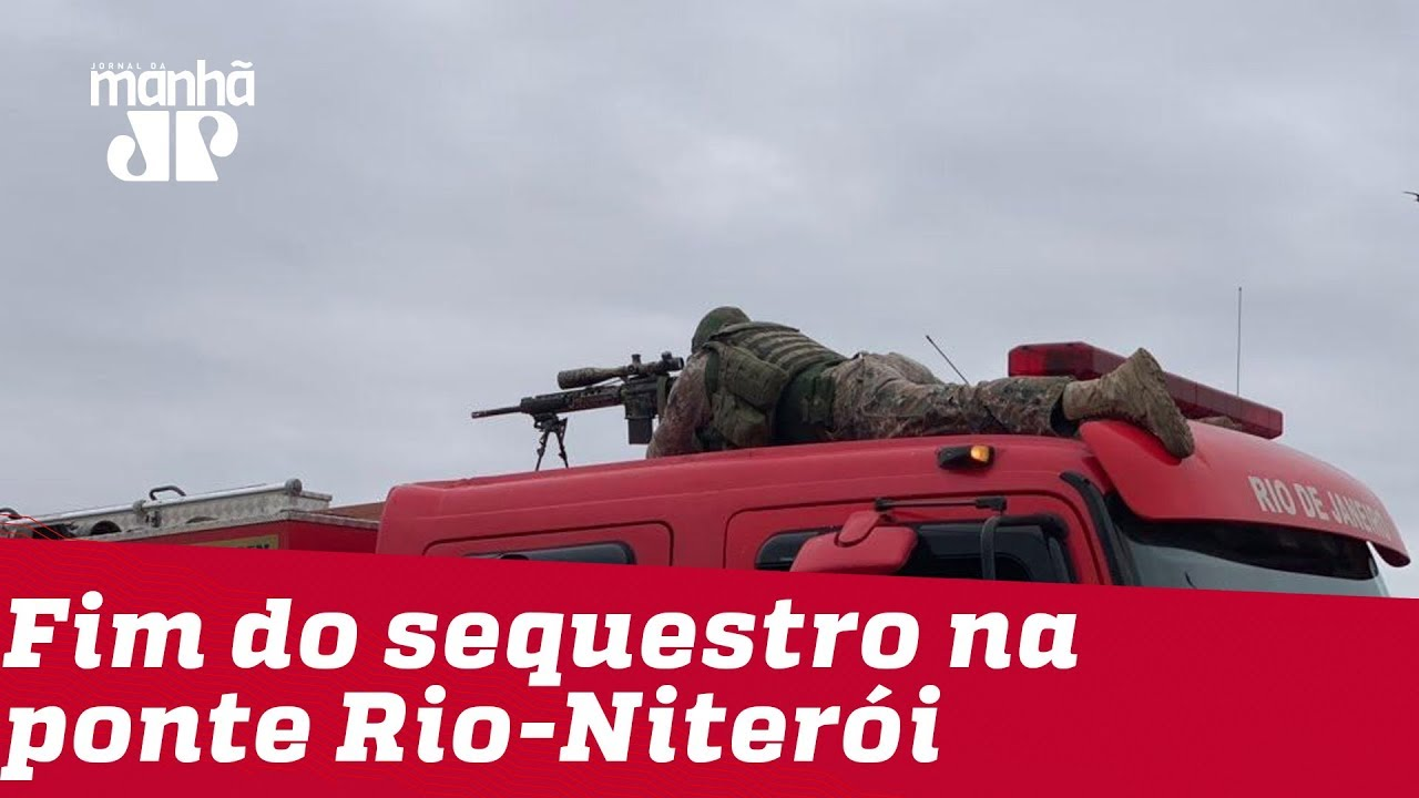 RJ: Após morte de sequestrador, reféns são liberados na Ponte Rio-Niterói