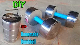 How to Make Homemade Dumbbell - DIY Dudes (Gym at home)