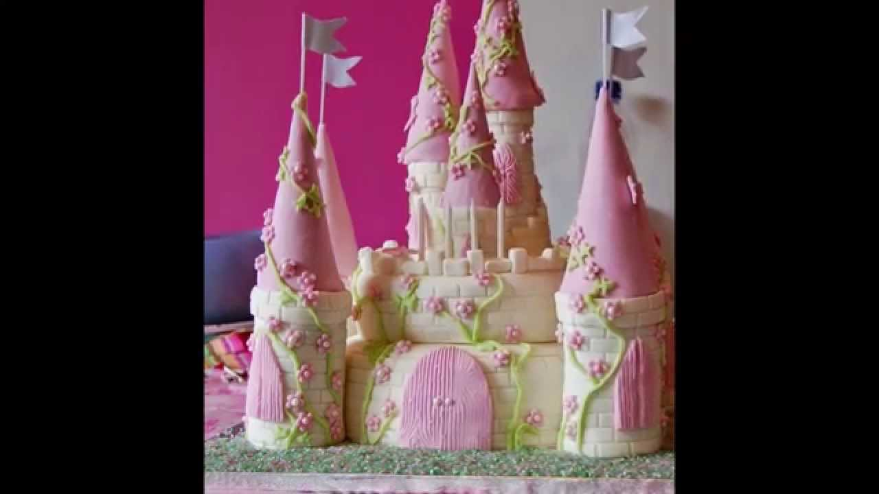 Castle Birthday Cake For A Pretty Girl Youtube