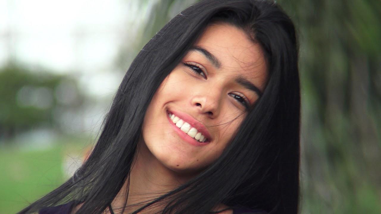 female teen girl beautiful long