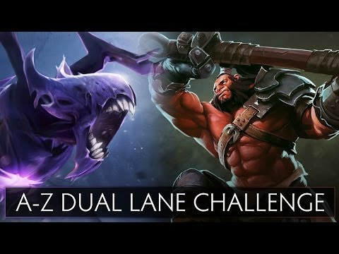 Dota 2 A-Z Dual Lane Challenge - Axe and Bane