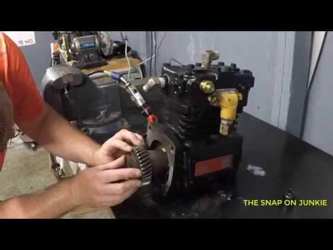 HOW TO REPLACE AN AIR COMPRESSOR ON A CAT ENGINE BY THE JUNKIE