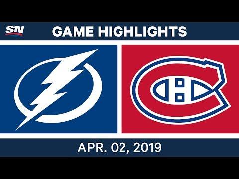NHL Game Highlights | Lightning vs. Canadiens – April 02, 2019
