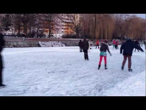 Berlin Frozen Canal, March 2012