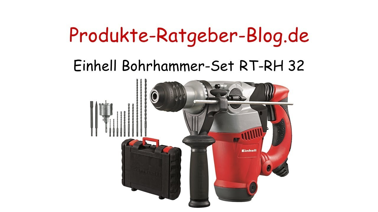 test einhell bohrhammer set rt-rh 32 - youtube