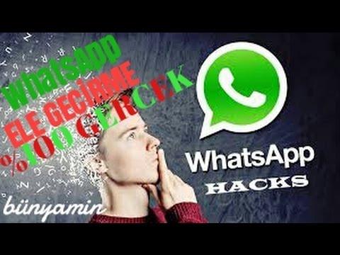 5 Saniyede WhatsApp Nasıl Ele Geçirilir %100 GERCEK.