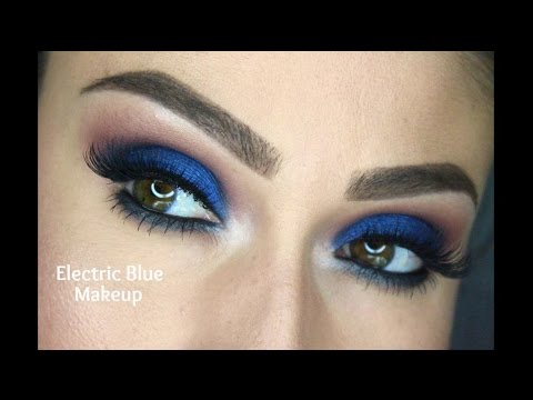 Electric Blue Eye Shadow Tutorial For Beginners Youtube