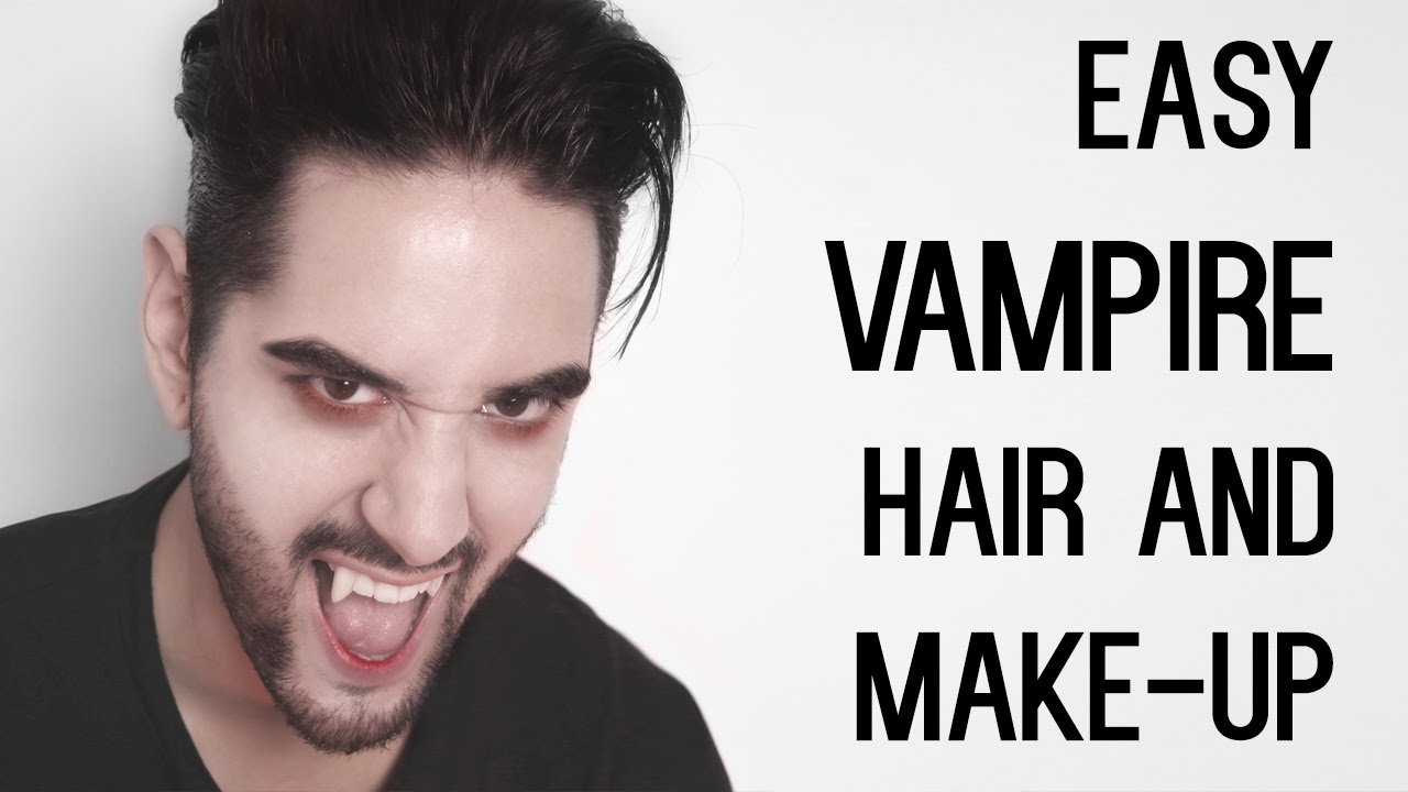 Cheap and easy vampire look hair and make up halloween mens cheap and easy vampire look hair and make up halloween mens hair and style james welsh youtube solutioingenieria Choice Image