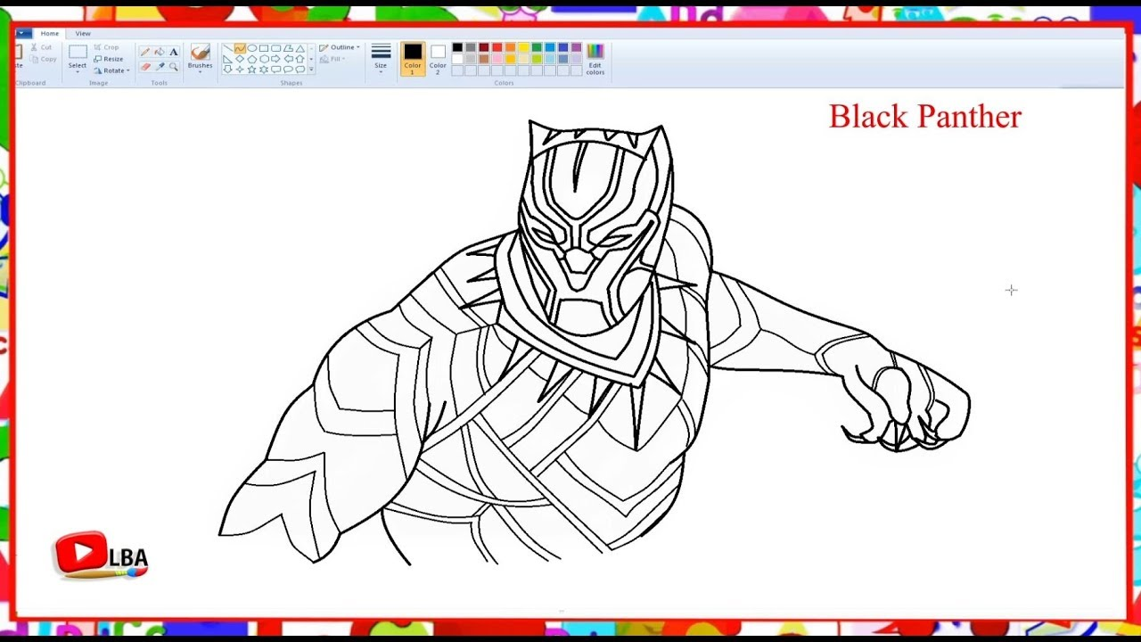 Black panther how to draw learn by art