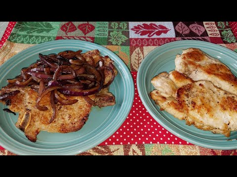 Pork chop and chicken: Cooking in the backyard
