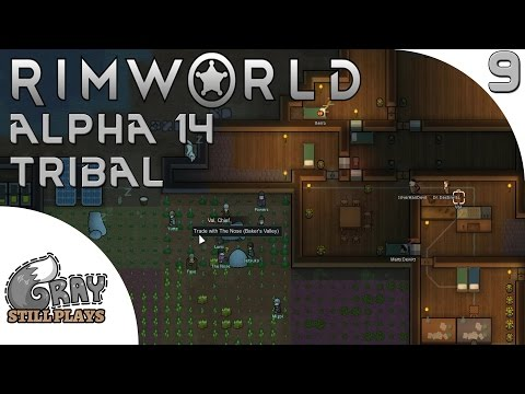 Rimworld Alpha 14 Tribal | Surviving the Winter in Our Mountain Base and Trading | Part 9 | Gameplay