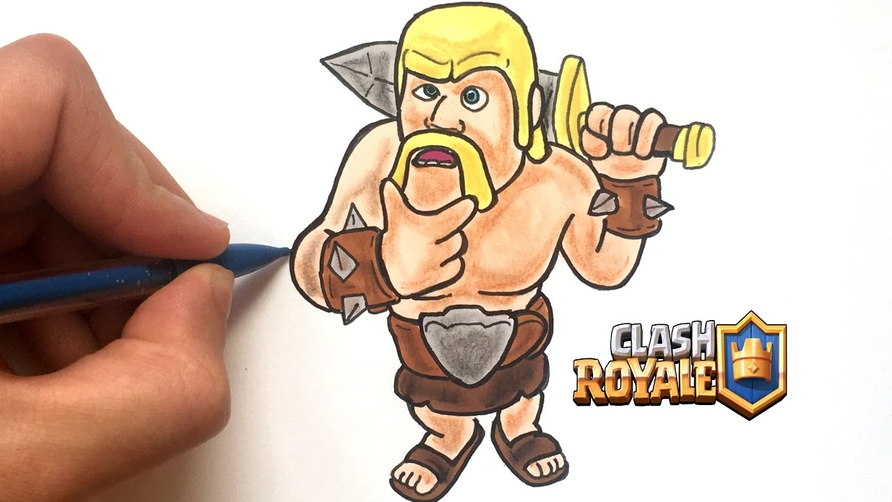 Draw Barbarian Clash Royale