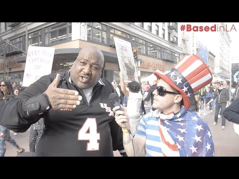 "Black Trump Supporter ""Big Joe"" Takes On Women's March L.A. and Drops Bombs On Clueless Protestors"