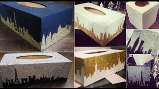 Diy Glitter Design Tissue Box