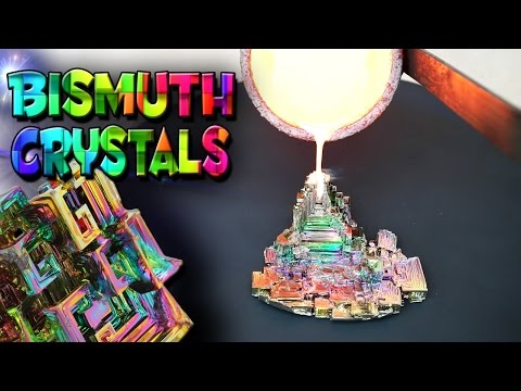 Molten Copper vs Bismuth Crystals