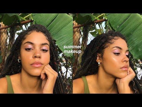 FRESH GLOWY SUN KISSED MODEL MAKEUP | MAKEUP FOR SWEATY DAYS