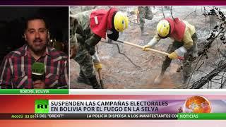 Evo Morales acepta ayuda internacional para apagar los incendios de la Amazonía