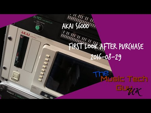 AKAI S6000 - First Look after Purchase