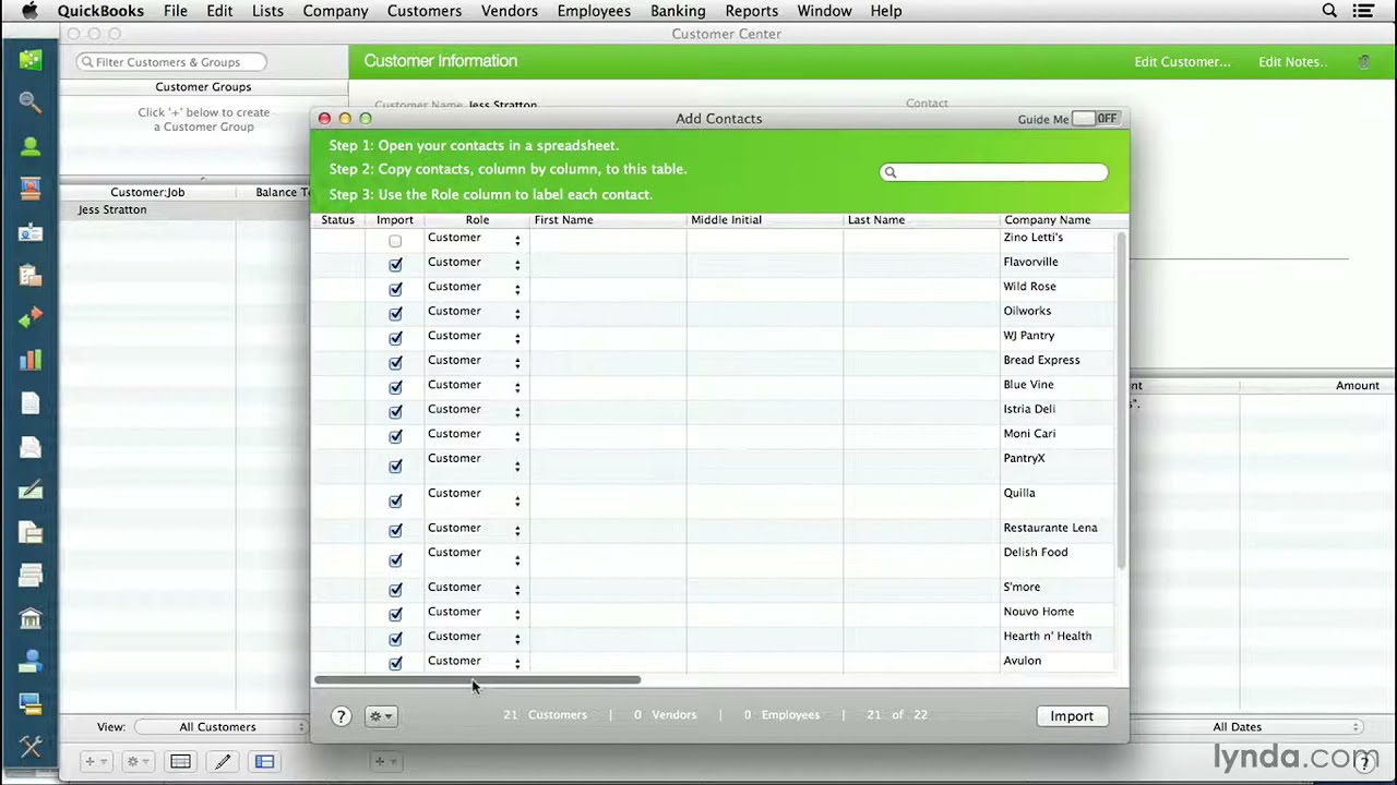 quickbooks for mac tutorial importing customers from another rh youtube com QuickBooks for Home Use QuickBooks 2013 Collection