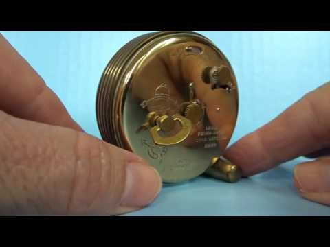 Cyma Vintage Swiss Alarm Clock Mid Century Mechanical 7 Jewels Brass Table Old