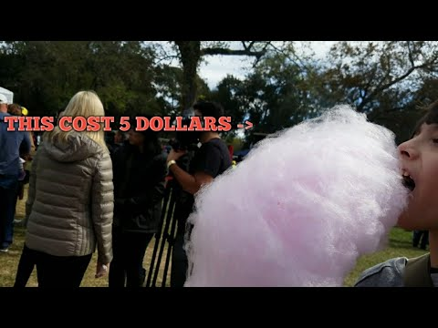 Huge cotton candy at Brazilian food festival