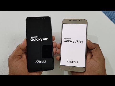 Samsung Galaxy A8+ (2018) Vs Samsung J7 Pro Speed Test Comparison !
