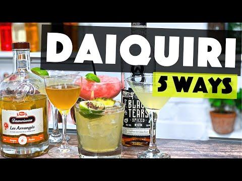 Daiquiri Variations | 5 EASY Ways to make a Daiquiri at Home!