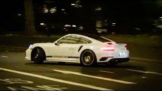 Porsche Turbo S CRAZY POWERSLIDES in the City!!