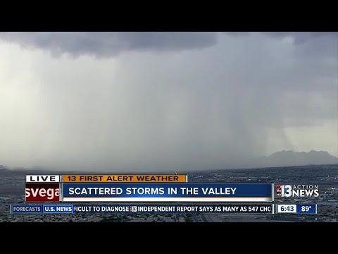 Flash flood warning issued for parts of Las Vegas valley