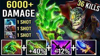WTF IMBA HERO IS BACK 6000+ Damage Finger 52% Magic Lion vs Tinker Mid 1 Shot Kill Crazy Game Dota 2