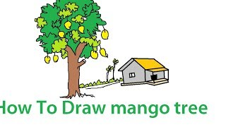 How To Draw mango tree
