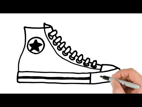 How to Draw Converse Shoes Sneakers Easy Drawing , YouTube