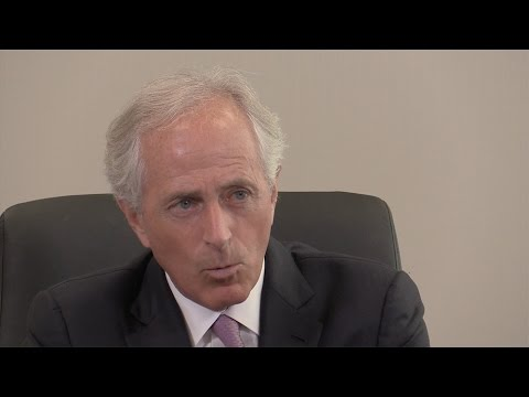 Sen. Bob Corker talks with The Tennessean editorial board