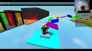 Playing parkour by PC Part 2 {ROBLOX}