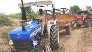 MAHINDRA 575 DI Tractor stuck in heavy load, amazing pulling by New Holland 3600 tractor Part -2
