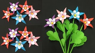 How to Make Lovely Paper Flower   Making Paper Flowers Step by Step   DIY-Paper Crafts