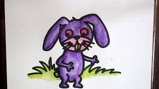 cara menggambar kartun kelinci yang mudah