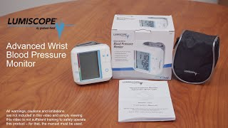 How to Use the Advanced Wrist Blood Pressure Monitor