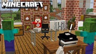 ZOMBIE ARMEE stört MEINEN UNTERRICHT in Minecraft
