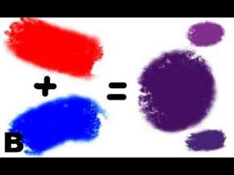 Acrylic Paint Colour Mixing