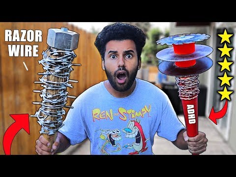 I Bought DIY Zombie Apocalypse SURVIVAL WEAPONS From Amazon!! (5 STARS) *EXTREME SURVIVAL CHALLENGE*